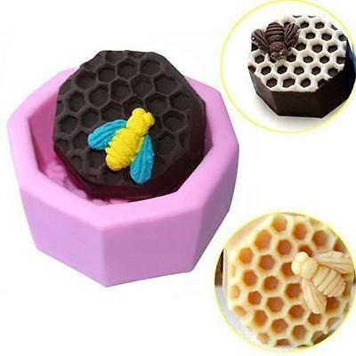 New Soap Craft Mold 3D Honeycomb Silicone Handmade Candy Ice Cube Cookie Mould