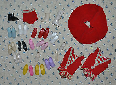 Vintage Barbie Skipper Swimsuits Skirt and Shoes