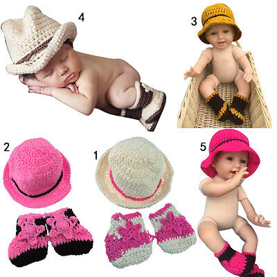 Baby Costume Hat Crochet Infant Toddler Photo Props Knit Photograph Beanies Cap