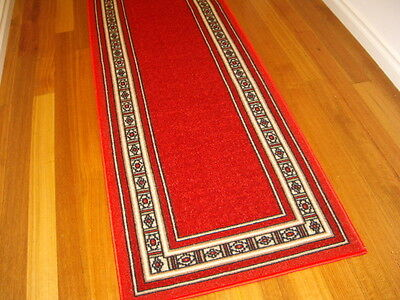 Hallway Runner Hall Runner Rug Modern Red 4 Metres Long FREE DELIVERY 51837
