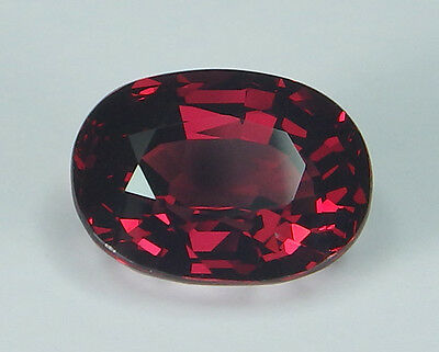BGL Certified Natural Rhodolite Garnet Oval Pinkish Red 5.43 ct
