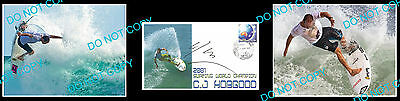 C.j Hobgood Surfing Former World Champion Signed Cover +2 Photos