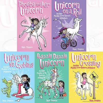 Phoebe and Her Unicorn Series 5 Books Collection Set Phoebe and Her Unicorn NEW