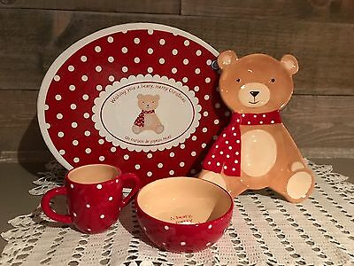 Carlton Cards A Berry Merry Christmas Childs Dish Set NIB