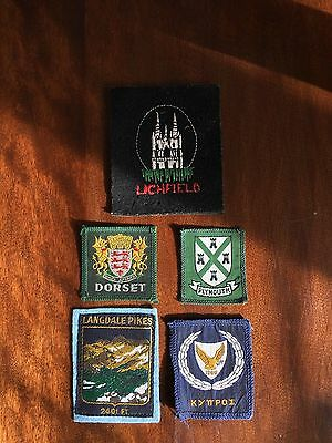 5 Boy Scouts Cloth Area / County Badges / Patches. Scouting. Scout.