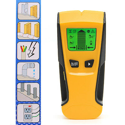 3in1 LCD Stud Wood Wall Center Scanner Finder Metal AC Live Wire Detector New
