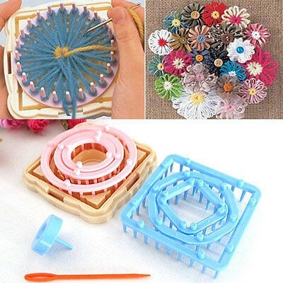 9Pcs/set Flower Loom Petals Knitting Wool Yarn Needle Embroidery Sewing Tool