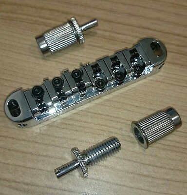 Chrome Roller Saddle Bridge Tune O Matic For LP Guitars