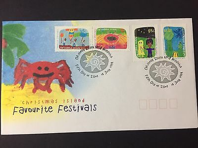 Christmas Island 1999 Favourite Festivals First Day Cover