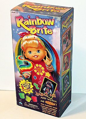 """Rainbow Brite 15"""" Doll - Paint & Glow from 1999"""