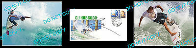 C.j Hobgood Former Surfing World Champion Signed Cover +2 Photos