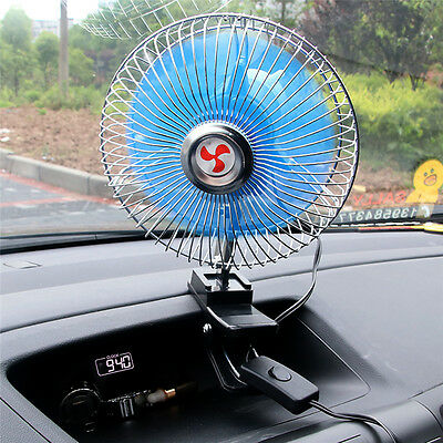 6 inch 12V Portable Dashboard Vehicle Auto Car Cooling Oscillating Fan Clip-On N