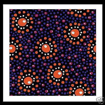 Aboriginal Modern  Print Art Painting by Jane Crawford  Camp Fire