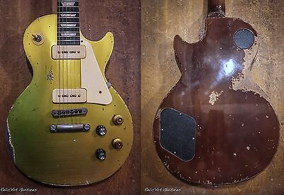 Gibson Les Paul 60' tribute nitro goldtop relic