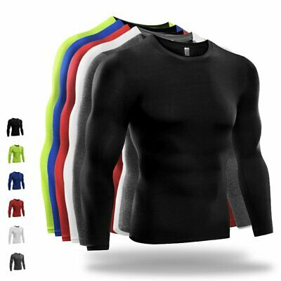 Men Compression Tights Sports Gym T-shirt Thermal Base Layer Top Quick Dry S-3XL