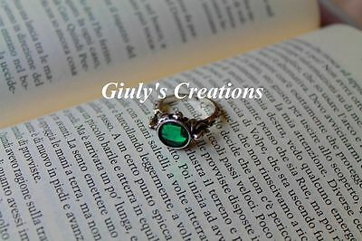 Ring Jack Sparrow Pirates OF THE CARIBBEAN Silver Skull skeletons green