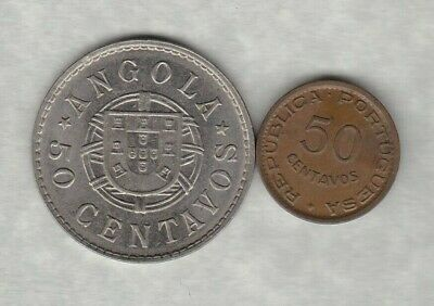 1923 Angola Silver 50 Centavos In Good Very Fine Condition
