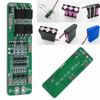 3S 11.1V Cell 18650 Li-ion Lithium Battery Charger BMS Protection PCB Board NEU
