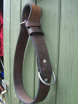 New Leather Tethering Collar / Neck Strap,cart,harness Romany Driving Bowtop