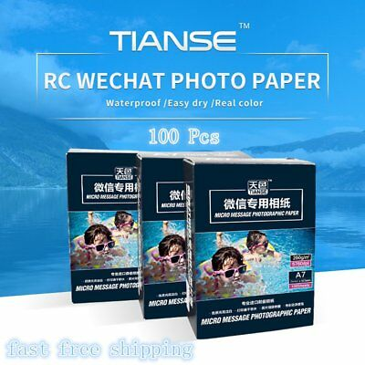 TIANSE 100 sheets/pack Photographic Paper for WECHAT A7 Size Waterproof SM