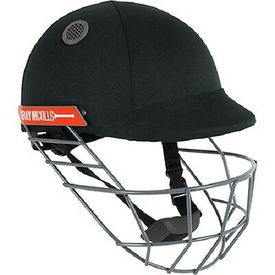 2018 Gray Nicolls Atomic Black Cricket Helmet - Steel Grill