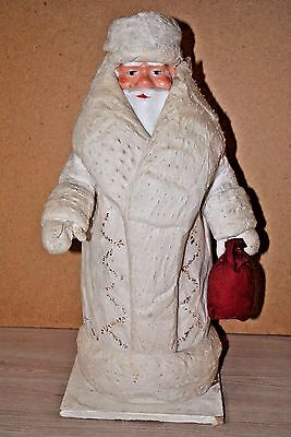 USSR Russian Vintage DED MOROZ Santa Claus Christmas drawing COTTON WOOL