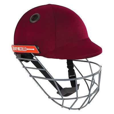 2018 Gray Nicolls Atomic Maroon Cricket Helmet - Steel Grill