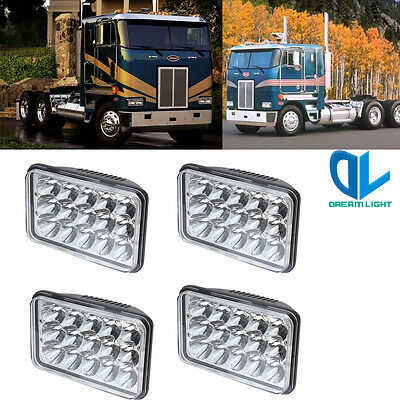 4pcs LED Headlights Bulb Sealed Beam For Peterbilt 362 Pontiac trans am