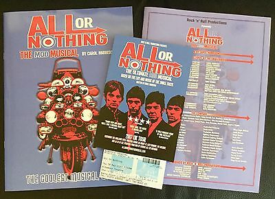 ALL OR NOTHING. Autographed Programme. Plus Brochure, Flyer & Ticket. Bradford A