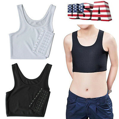 Lesbian Tomboy Casual Breathable Buckle Short Chest Breast Binder Trans Shaper