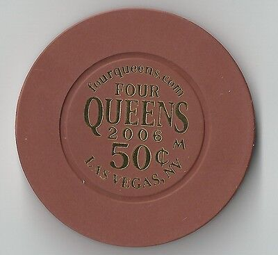 $.50 Four Queens Las Vegas Casino Chip Downtown 2006 Oldtown
