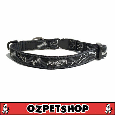 ROGZ Fancy Dress Dog Collar - Black Bones