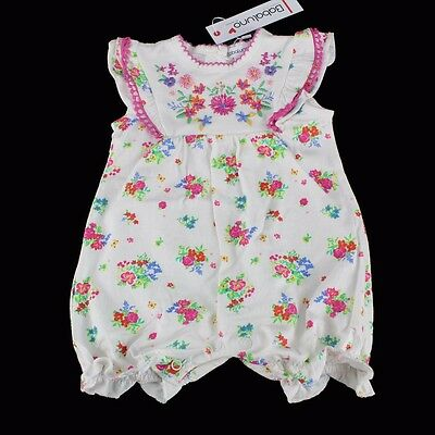 BNWT BABALUNO Baby Girls Embroidered Floral Romper Playsuit 0-3-6-9-12 m