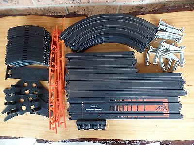 Double Loop AFX Aurora Track Bundle Slot Car Track Bulk Lot, Terminal Track