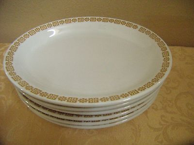 "Shenango China Restaurant Ware 11"" Platters - Gold Daisy Pattern - Set of 6"