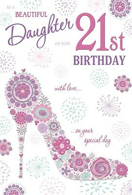 Daughters happy 21st birthday card with lovely verse age 21 442 21st daughter birthday card age 21 quality card with beautiful verse harmony bookmarktalkfo Choice Image