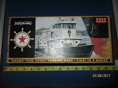The Texaco Fire Chief  Oil & Gas Tugboat Bank 2000 Nautical Series NIB Gift idea