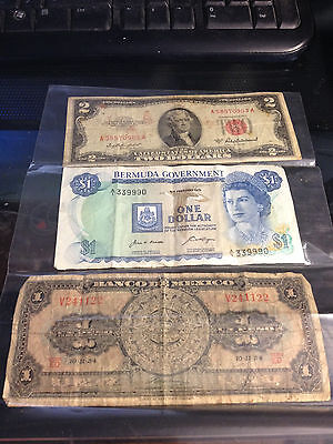 Old paper money lot
