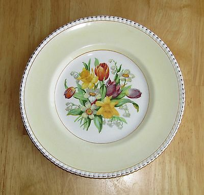 """Solian Ware Plate """"Spring Flowers"""" Simpsons Cobridge England Daffodils & Tulips"""