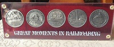 """Great Moments In Railroading"" Train History Coin Set"