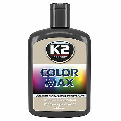 Color Max Car Paint Polish Colour Restorer Cover Scratches Enhance Lustre Black