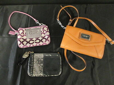 Women's Lot of Wallets Coach, Juicy Couture, Tiganello Cross Body Wallet