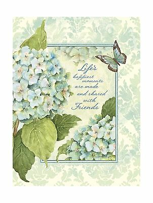 "LANG - Address Book - ""Blue Hydrangea"" Artwork by Susan Winget - Lay-Flat 3-R..."