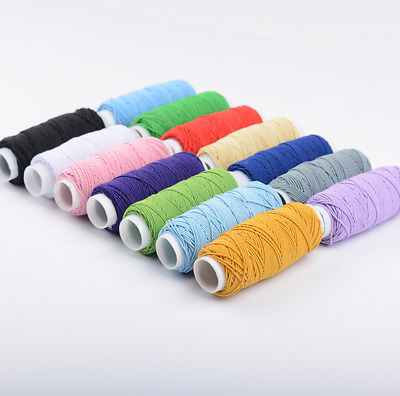 Elastic Stretch Tiny Round Beading Cord Braided Craft Bracelet String Rope 30m