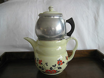 """Hall's Coffee Pot Red Poppy """"Daniel"""" 2-8 cup 1930's or 1940's"""