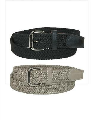 New CTM Kids' Elastic Braided Stretch Belt (Pack of 2 Colors)
