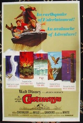 Hayley Mills, In Search Of The Castaway. Orig.usa 1 Sheet Film Poster.disney
