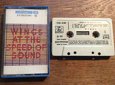Wings - At The Speed of Sound [MC TAPE] 1976 Parlaphone Paul McCartney