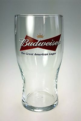 Budweiser Bowtie Great American Lager Beer Glass Wide Mouth 20 oz