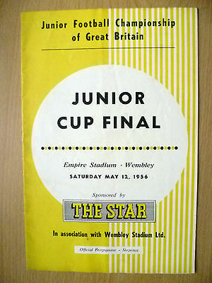 JUNIOR CUP FINAL 1956- ARMY CADET FORCE v NATIONAL ASSOCIATION OF BOYS CLUBS